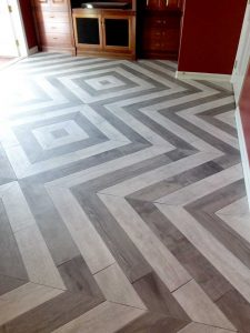 Diagonal Tile Installation
